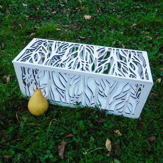 Деревянная резная коробка на кенди бар Большая ажурная шкатулка для конфет из дерева
