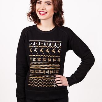"Женский свитшот ""Christmas Deers"""