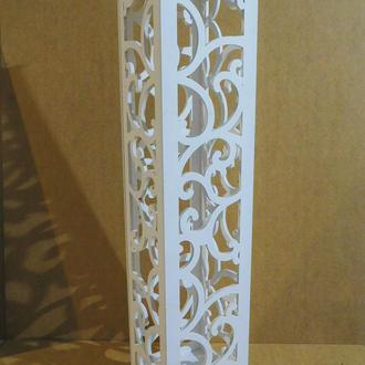 Ажурная резная деревянная колона Весільна колона Декор для фотозони