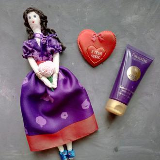 """Кукла """"Виолетта"""" в стиле тильда, текстильная, интерьерная"""
