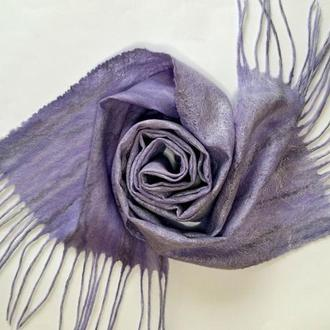 Валяный шарф cobweb