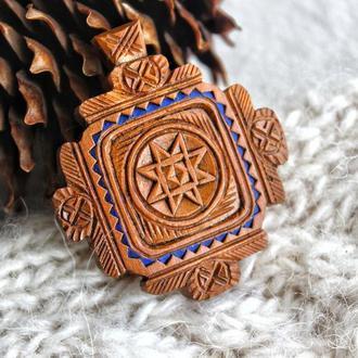 Натільний дерев'яний хрестик