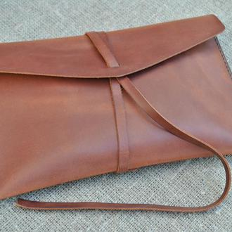 Клатч из натуральной кожи KLH01-210