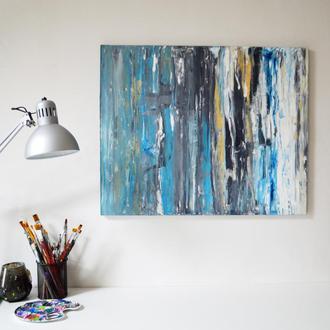 """Авторская картина маслом """"Океан"""" 80х65 см. Эксклюзивная работа"""