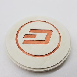 Dash подставка под чашку Dash из бетона - белый с медью