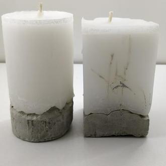 Набор свечей из бетона - 10 см