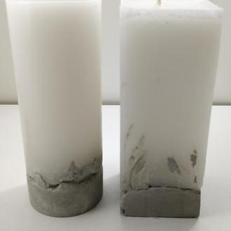 Набор свечей из бетона - 15 см