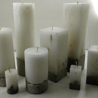 Набор свечей из бетона 8 шт