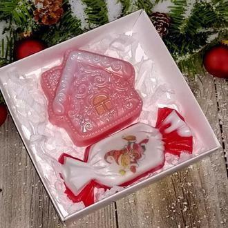 Сувенирное мыло: набор домик и конфета