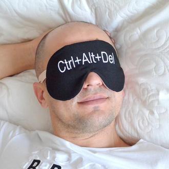Маска для сна матовая или атласная (МС853)