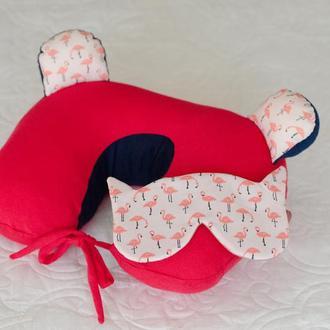 Набор путешественника: подушка на шею и маска для сна (НПМ001)
