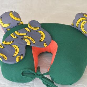 Набор путешественника: подушка на шею и маска для сна (НПМ002)