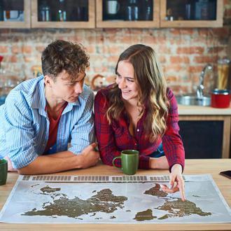 Лучший Подарок на Новый Год Карта Путешественника Скретч Карта Мира Скретч Постер на Стену