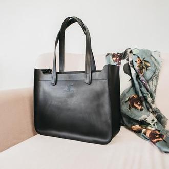 Сумка женская большая, сумка для ноутбука, кожаная сумка, шкіряна жіноча сумка