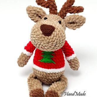 Різдвяний олень. Плюшевий олень