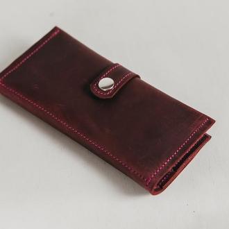 Кошелек в подарок, кошелек из натуральной кожи, шкіряний гаманець