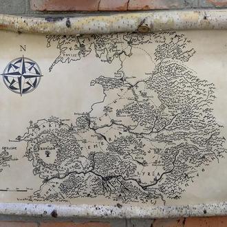 Карта Северных Королевств, Ведьмак. Рамка-свиток