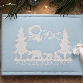 Зимовий альбом, Подарок на Новый год, Зимний альбом, Новогодний фотоальбом, Подарунок батькам