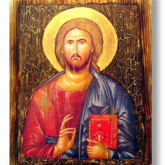 копия иконы Христа Пантократора из Синайского монастыря. Середина VI века.