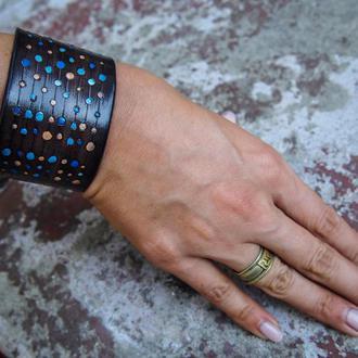 Женский браслет геометрия, кожаный браслет