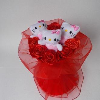 """""""Kitty roses"""" - букет из мягких игрушек"""