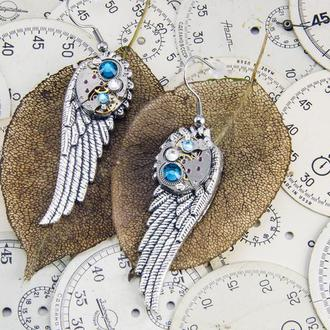 Серьги steampunk крылья (в январе в наличии)
