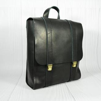 Черный кожаный рюкзак. Рюкзак для девушек. Кожаный рюкзак женский. Украинские рюкзаки.