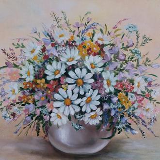 Картина маслом Польові квіти