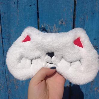 Маска для сна пушистый котик