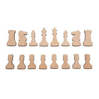 """Шахматы из фанеры. Заготовки """"под магнит"""""""