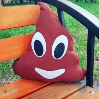 Подушка смайлик Emoji Какашка