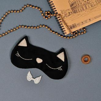 Маска для сна Черная кошка