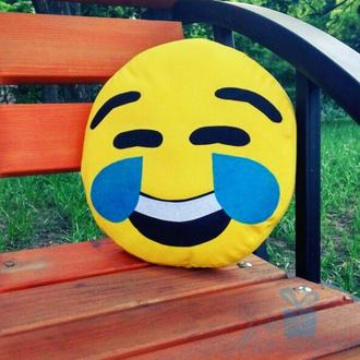 Подушка смайлик Emoji Ржу не могу
