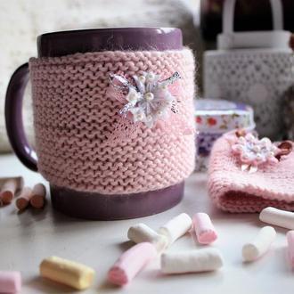 Чохол, теплушка на чашку, грілка на чашку дуже ніжна