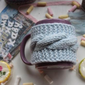 Чашка, кружка с вязаным чехлом