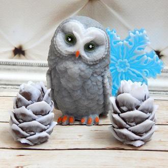 Мыло  Сова, шишки, снежинка - подарочный набор №17