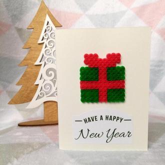 ❆Новогодняя открытка ′Подарок′❆
