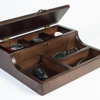 Шкатулка из дерева для часов и аксессуаров Dabo Hetch DS5-2