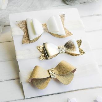 Набор повязок для малышки, Бантики для девочки, Подарок на годик