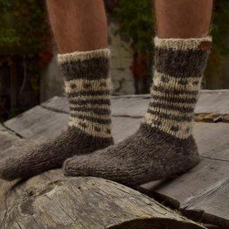 В'язані шкарпетки з натуральної вовни