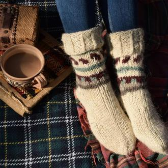 Вовняні шкарпетки з натуральної вовни