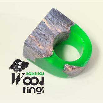 Кольцо из стабилизированного дерева