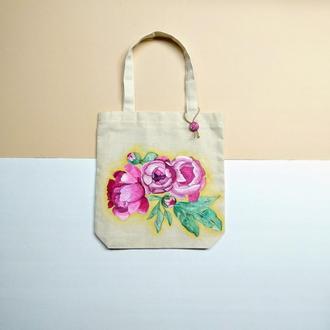 Еко-сумка з натурального льону.