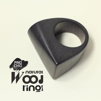 Женское кольцо из африканского черного дерева
