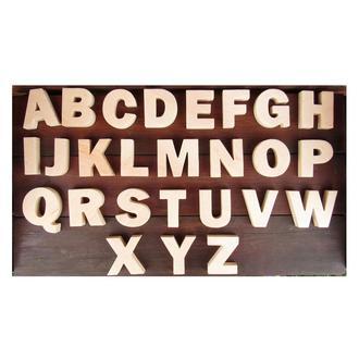 Дерев'яна Абетка англійська на магнітах. Деревяная магнитная азбука английская, латиница