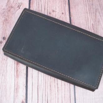 Шкіряне портмоне коричневого кольору