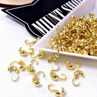 Каллоты (зажимы) для лески/шнура Золото 5 мм