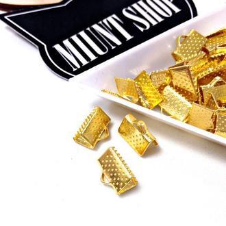 Зажимы для лент 10 мм Золото