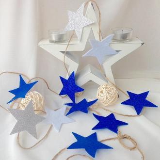 """Новогодняя гирлянда """"Звезда"""" (синяя)"""