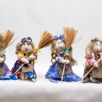 "Текстильная кукла Vikamade ""Баба-Яга"" миниатюра"